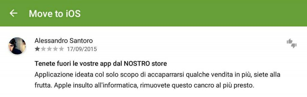 Move to iOS recensioni 6